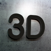 3D Buchstaben Acrylglas farbig