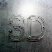 3D buchstaben acrylglas transparent