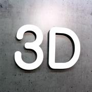 3D buchstaben Aluminium-Verbund