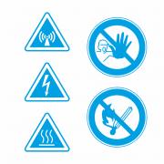 Warnschilder industrie